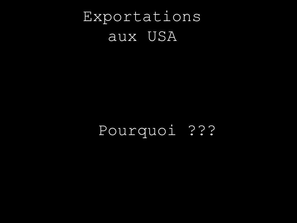 Exportations aux USA Pourquoi ???