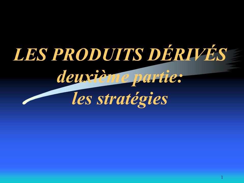 1 LES PRODUITS DÉRIVÉS deuxième partie: les stratégies