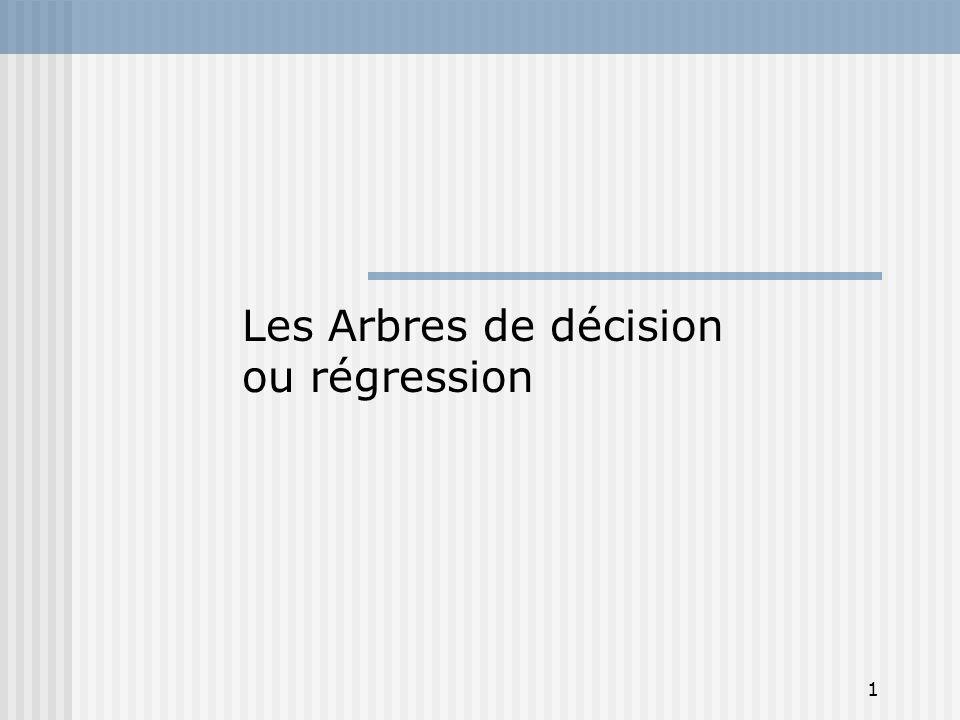 1 Les Arbres de décision ou régression