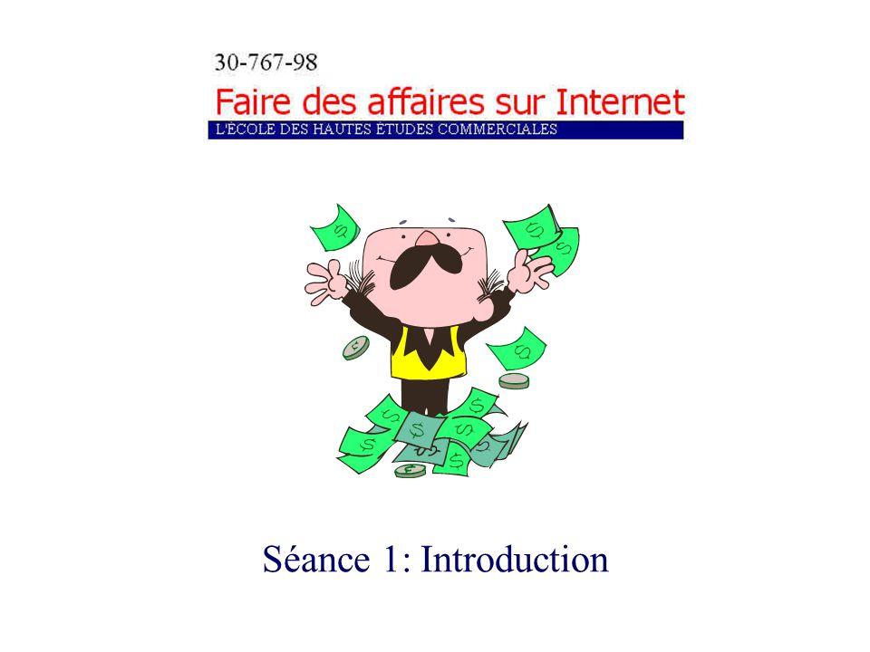 d) Le commerce électronique: définitions, catégories et bénéfices SÉANCE 1: INTRODUCTION