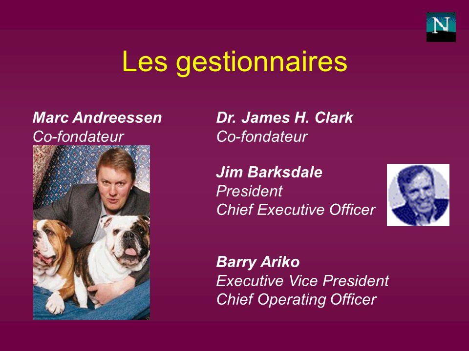 Les gestionnaires Marc Andreessen Co-fondateur Dr.