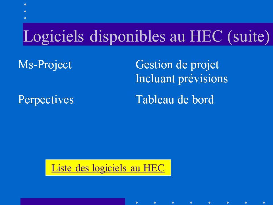 Logiciels disponibles au HEC
