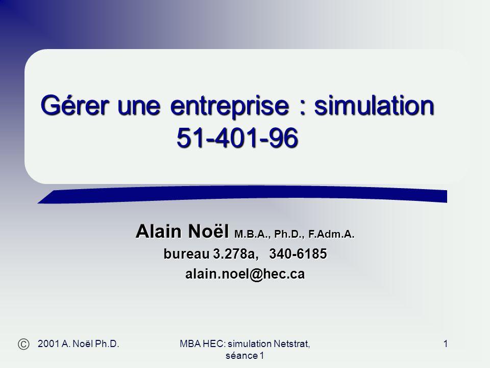 Alain Noël M.B.A., Ph.D., F.Adm.A.