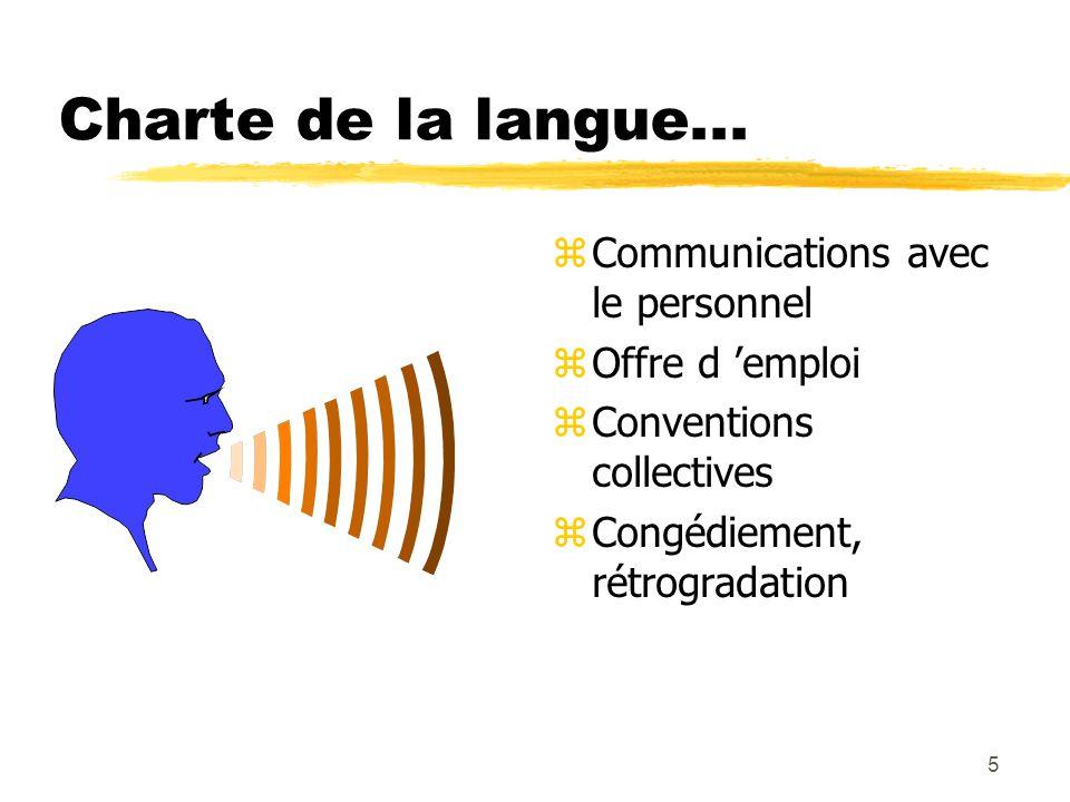 5 Charte de la langue...