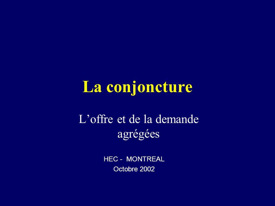 La conjoncture Loffre et de la demande agrégées HEC - MONTREAL Octobre 2002