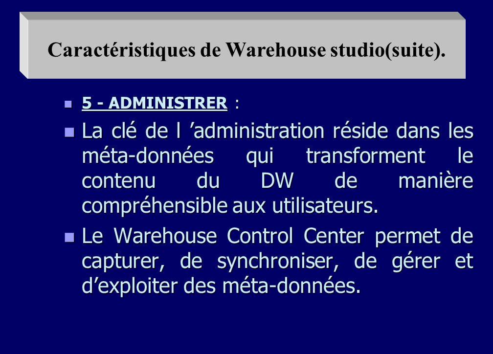 n 4 - VISUALISER : n Une fois les données stockées dans le DW une interface intuitive en langage naturel anglais ou français, permet de l ouvrir à une