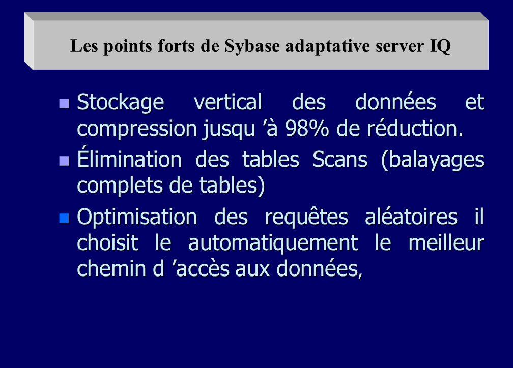 n C est un server dédié au décisionnel n Rapidité de l accès aux données. n Sans contraintes. n Gain de temps et de souplesse. n Bâtir des solutions d