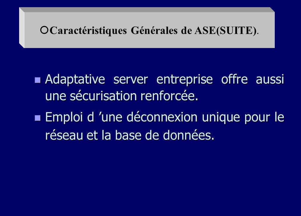 n La pré lecture asynchrone maximise la vitesse de traitement des requêtes. n Le partitionnement des tables autorise les traitements en parallèle. n U