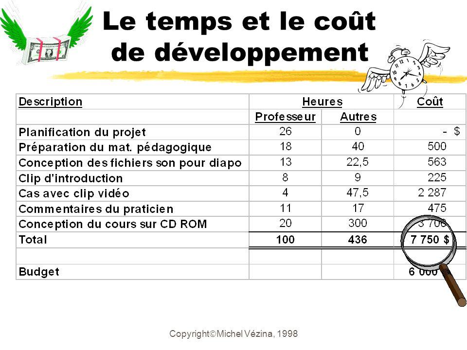 Copyright Michel Vézina, 1998 Diagnostic des outils et ressources utilisés zLe logiciel yBesoin de formation pour continuer yLa prochaine fois LM Soft ou… .