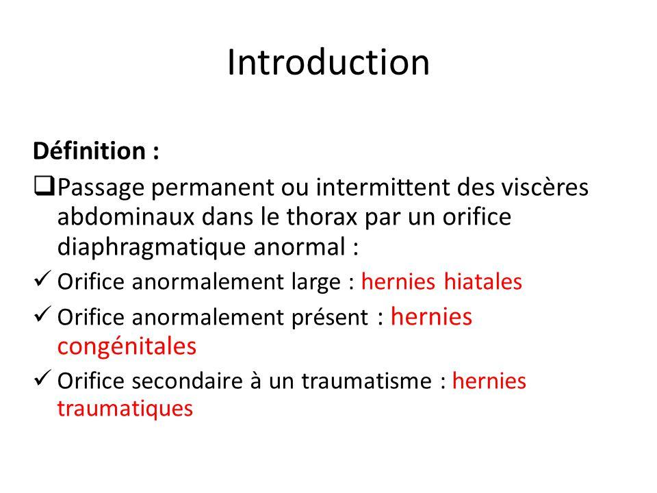 HH paraoesophagiennes Mouroux J, Chazal M, Bernard JL, et al.