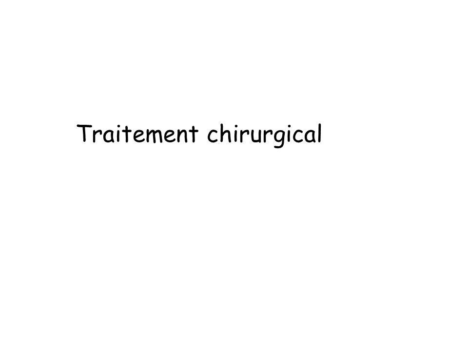 Traitement chirurgical