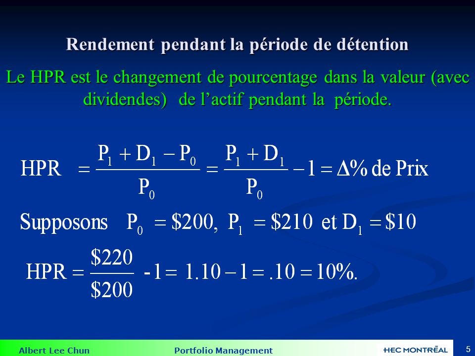 Albert Lee Chun Portfolio Management 46 Corrélation