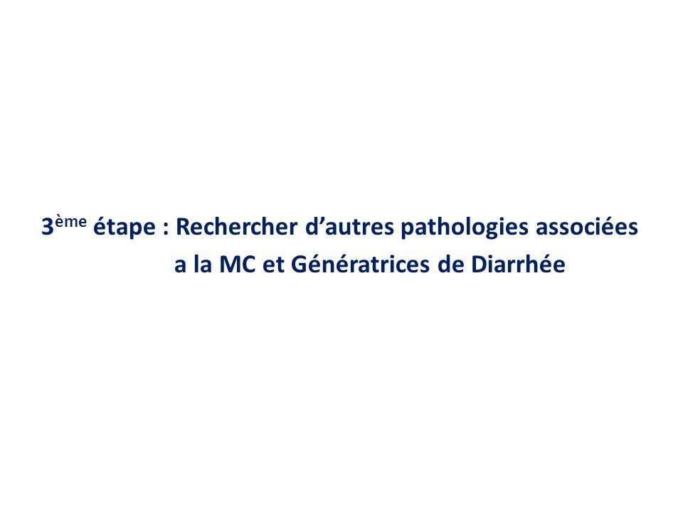 3 ème étape : Rechercher dautres pathologies associées a la MC et Génératrices de Diarrhée