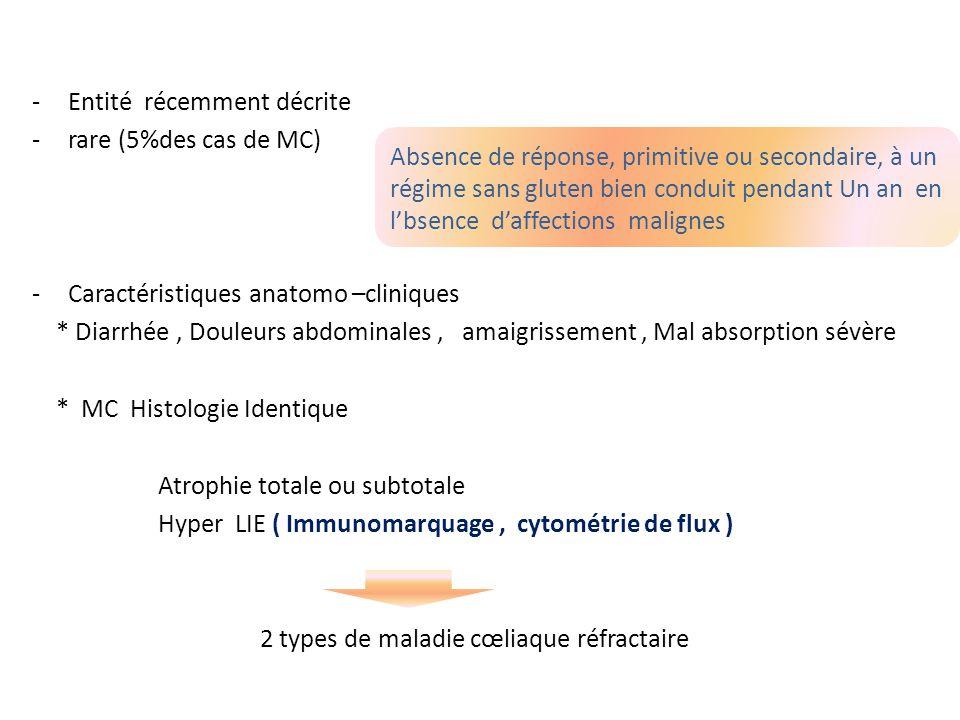 -Entité récemment décrite -rare (5%des cas de MC) -Caractéristiques anatomo –cliniques * Diarrhée, Douleurs abdominales, amaigrissement, Mal absorptio