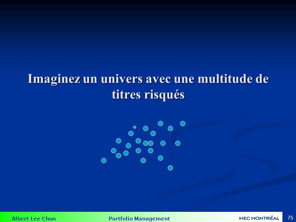 Albert Lee Chun Portfolio Management 75 Imaginez un univers avec une multitude de titres risqués