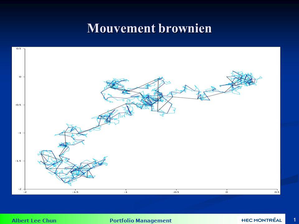 Albert Lee Chun Portfolio Management 32 Motivation pour lindexation Motivations empiriques : Motivations empiriques : 1.