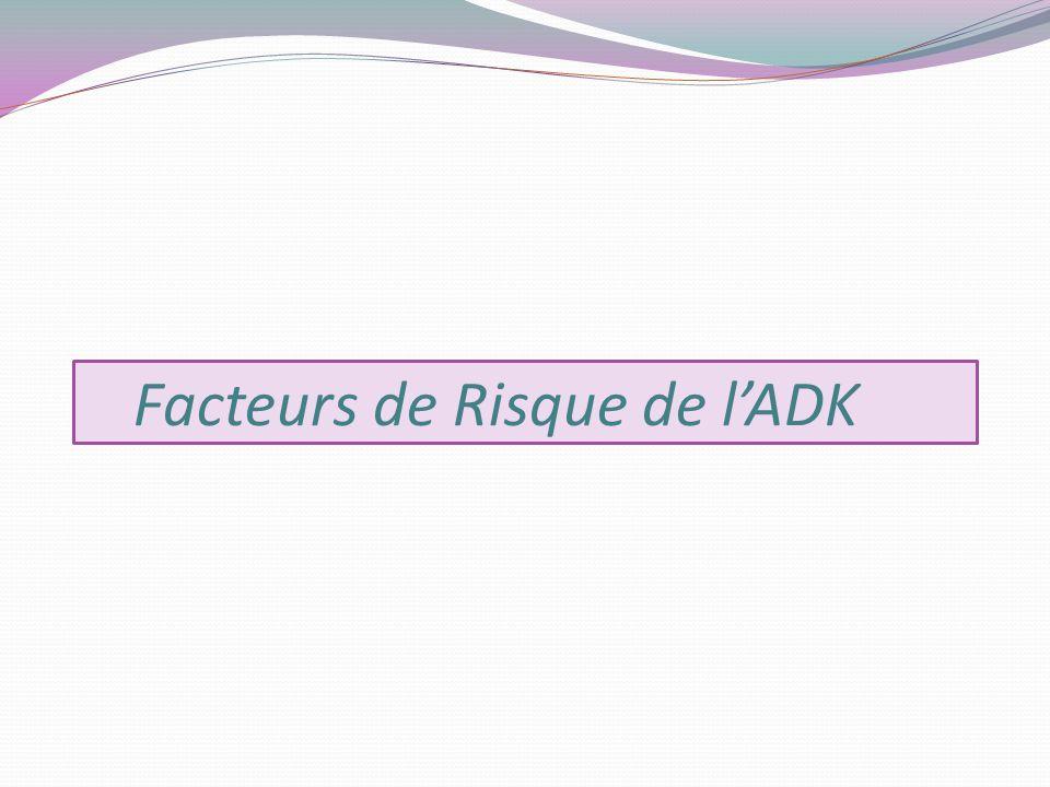 Facteurs de Risque de lADK