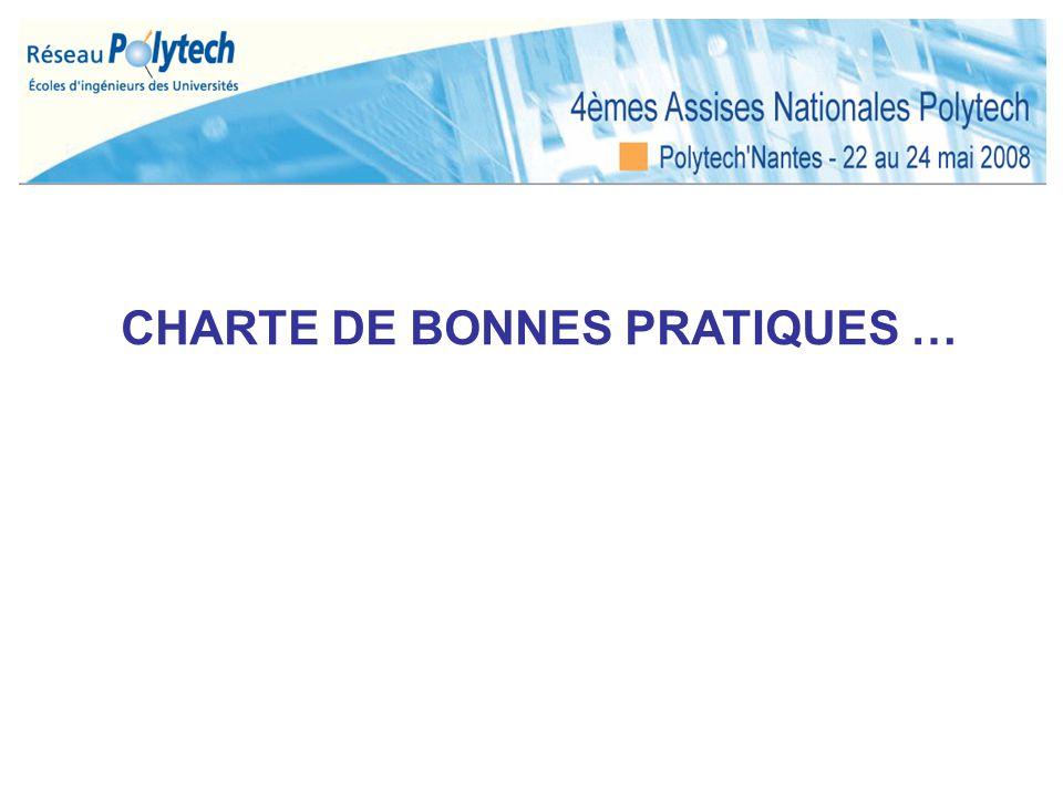CHARTE DE BONNES PRATIQUES …