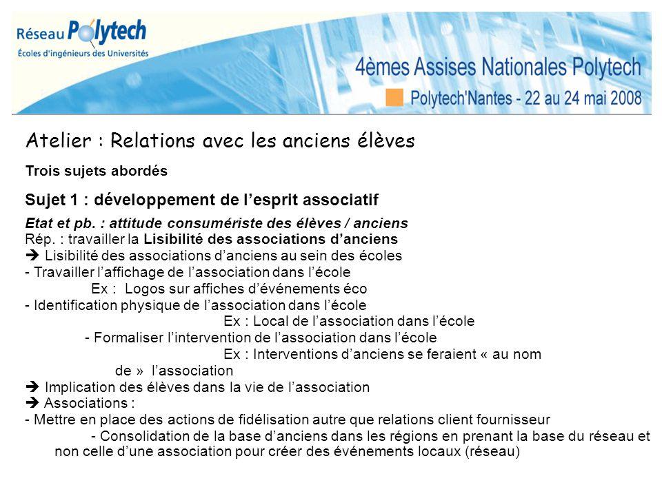 Atelier « Recherche » Diplôme dingénieur => recherche possible Unanimité Double cursus interne .