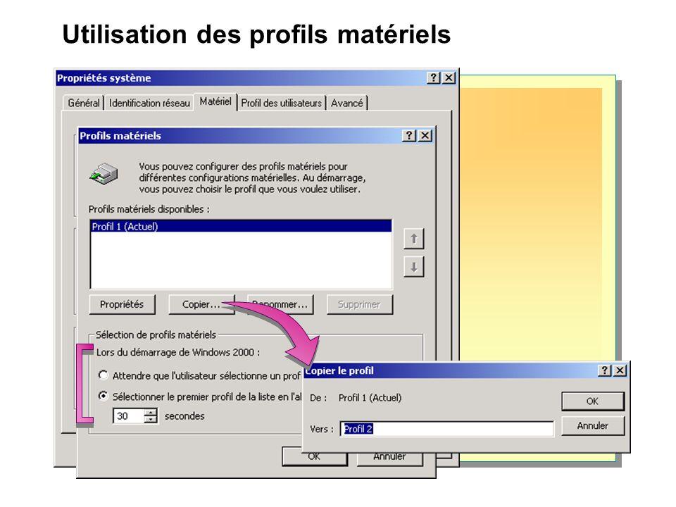 Atelier A : Création et utilisation de profils matériels