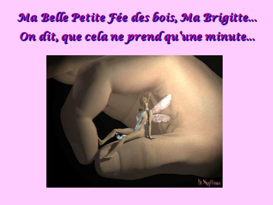 Ma Belle Petite Fée des bois, Ma Brigitte...On dit, que cela ne prend quune minute...