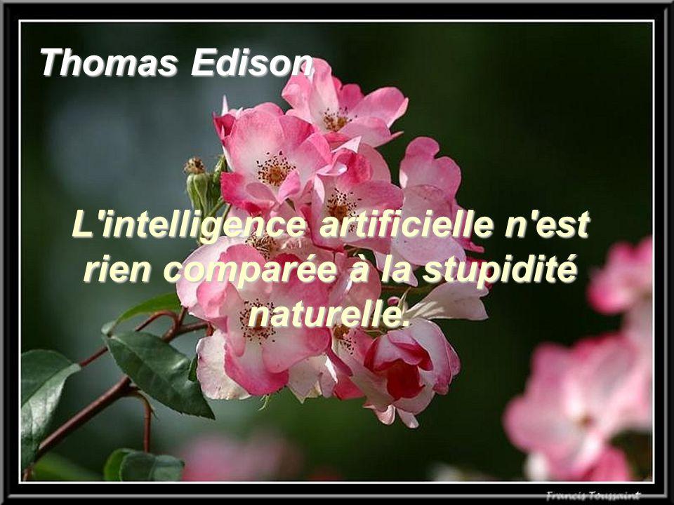 Thomas Edison L'intelligence artificielle n'est rien comparée à la stupidité naturelle.
