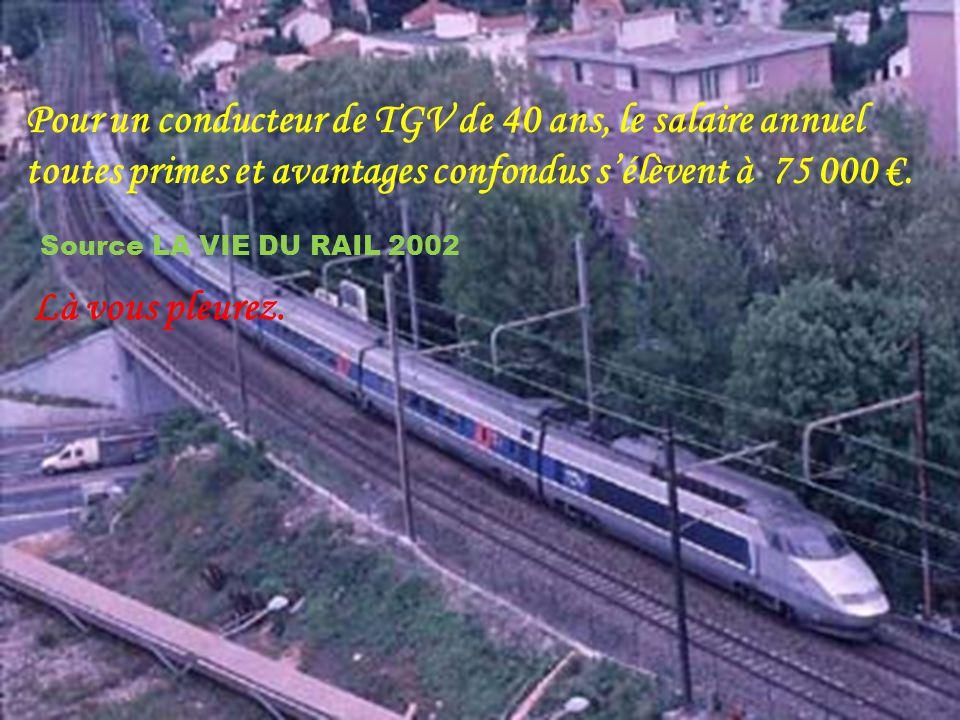 Plus les primes : > > > > > > - prime de charbon (vous lisez bien), Prime de parcours. Prime de TGV. Allocation de déplacements. Indemnités pour heure