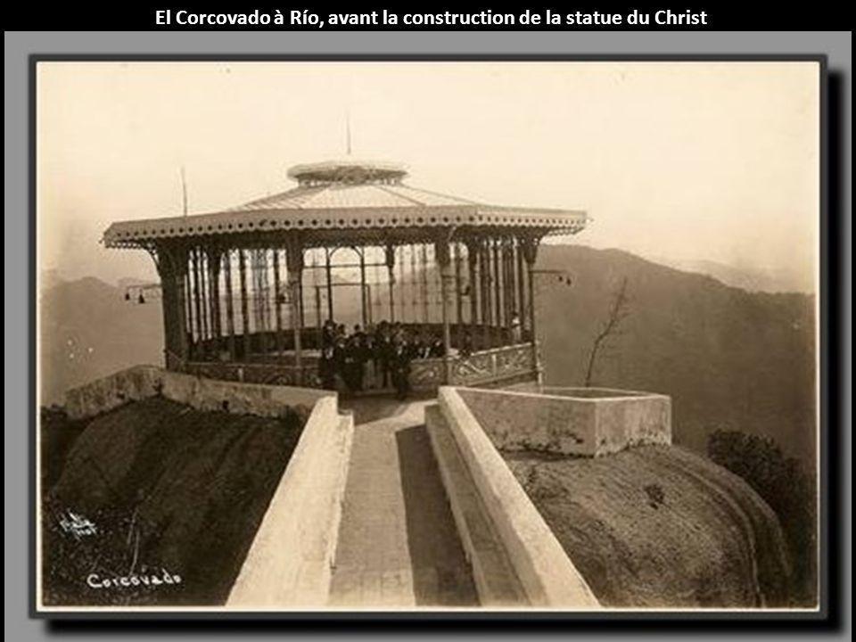 El Corcovado à Río, avant la construction de la statue du Christ