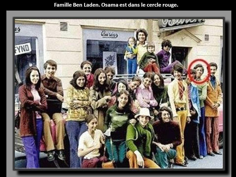 Famille Ben Laden. Osama est dans le cercle rouge.