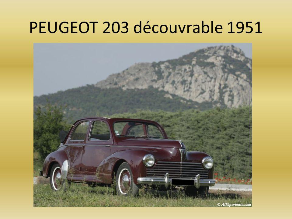 PEUGEOT 203 découvrable 1951