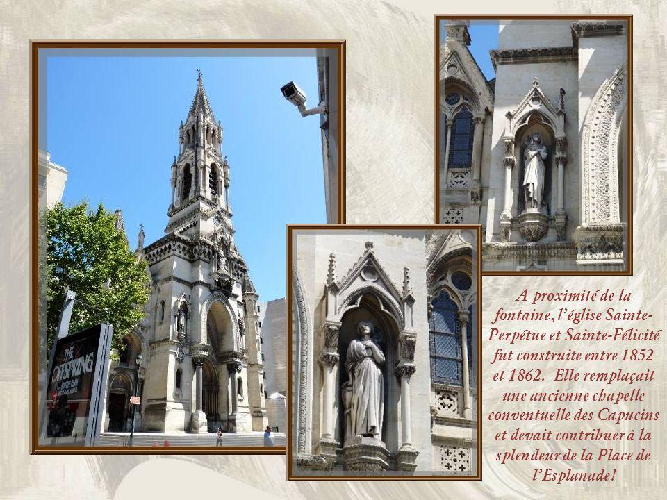 En 1844, la ville organisa un grand concours pour la réalisation de cette fontaine quelle voulait grandiose. Pradier obtint le contrat, même si sa sou