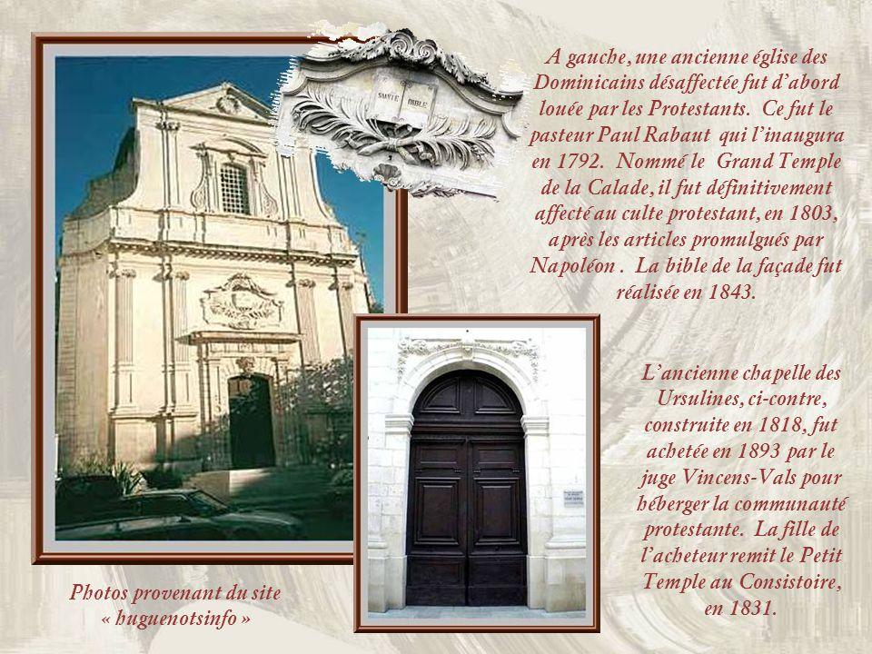 Nîmes fut un haut lieu du développement du Protestantisme en France. En 1520, Luther et Zwingli puis Calvin, lancèrent la Réforme de lÉglise. Dix ans