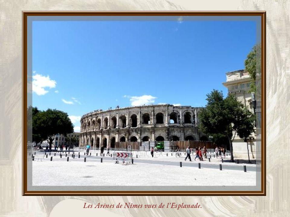 Cest lempereur Hadrien qui fut linstigateur des Arènes de Nîmes, en119. Son œuvre fut poursuivie par Antonin et elles furent inaugurées en 138. Elles