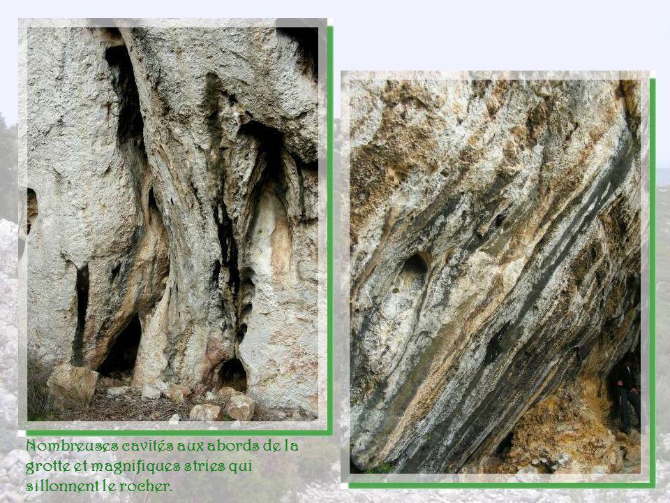 Une cavité dans le rocher attire les regards. Les plus intrépides vont explorer. Il semble quun couloir senfonce en profondeur mais pas question dalle