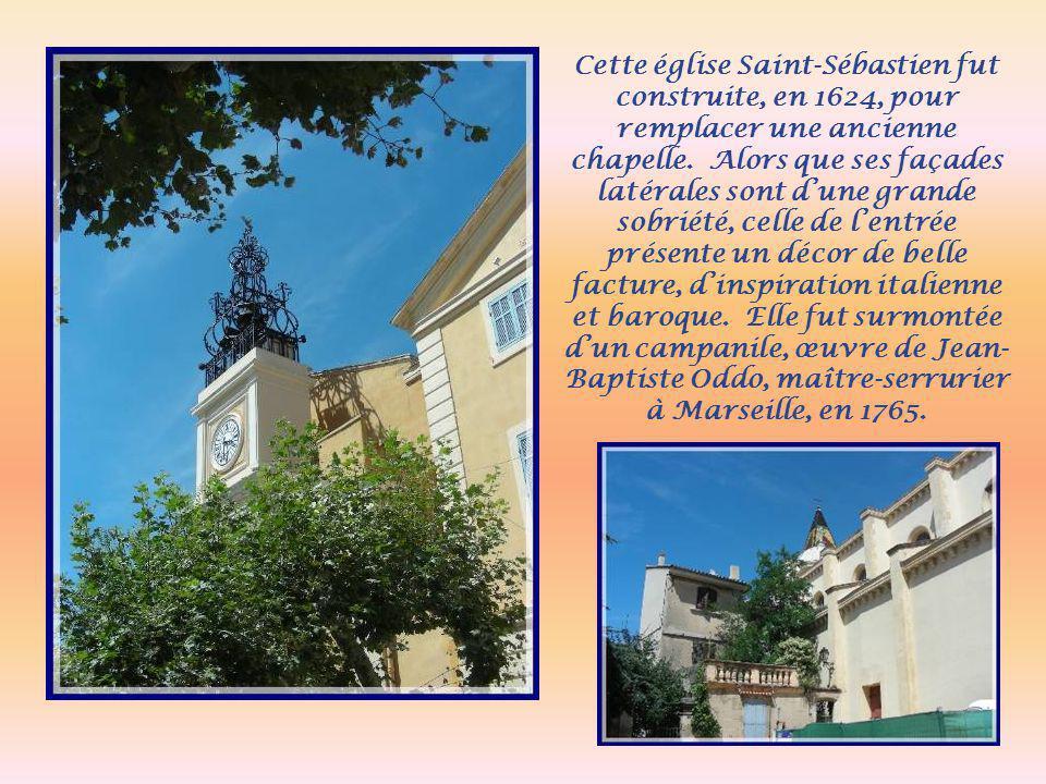 Traversant la Montagne du Cengle, qui nous permet une très belle vue sur la plaine, nous redescendons vers Saint- Antonin s/Bayon où se trouve la Maison Sainte- Victoire.