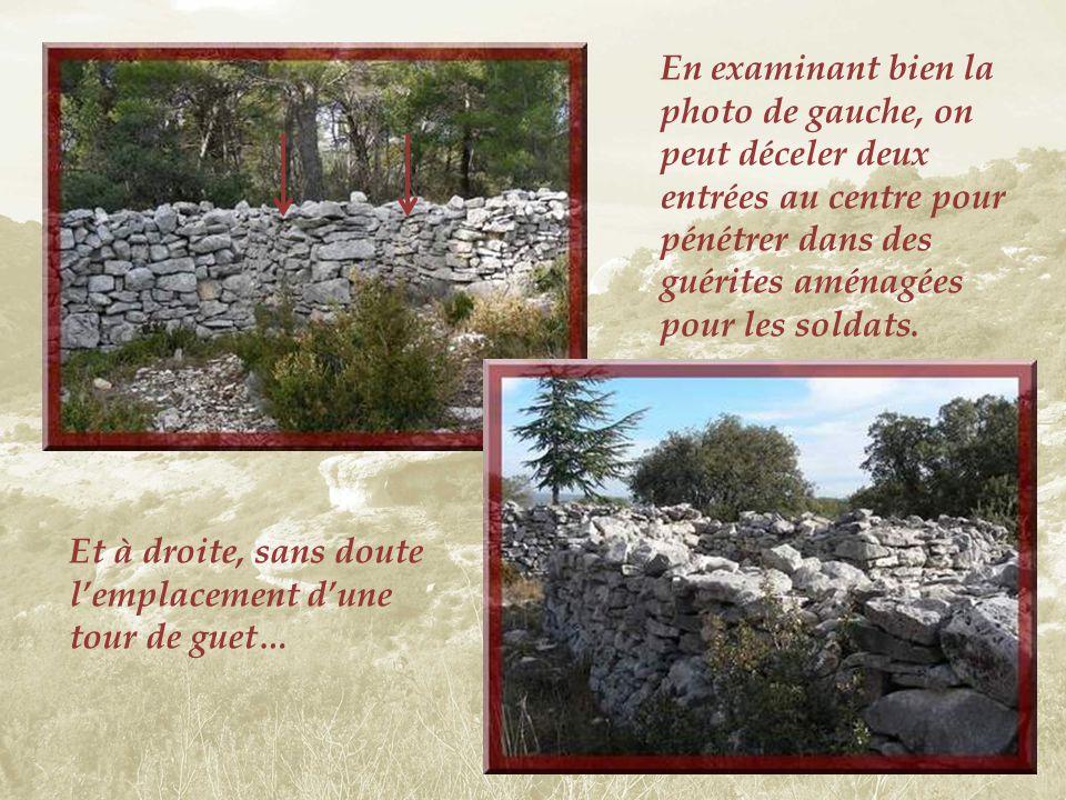 Un sentier étroit et rocailleux, suit le tracé du mur…
