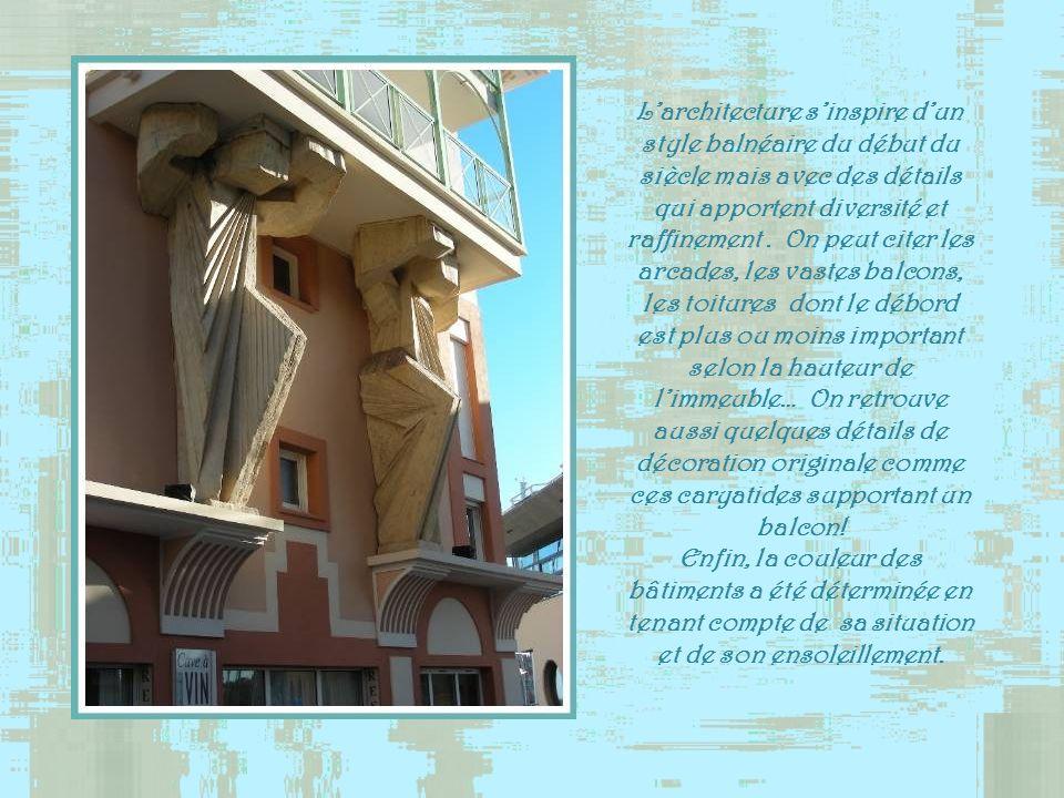Larchitecture sinspire dun style balnéaire du début du siècle mais avec des détails qui apportent diversité et raffinement.
