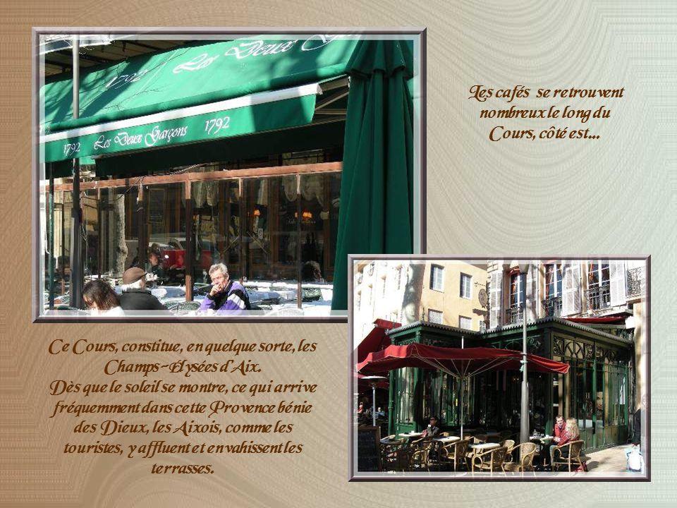 Un trajet jalonné de gros clous de laiton permet de découvrir des sites significatifs dans la vie de Cézanne.