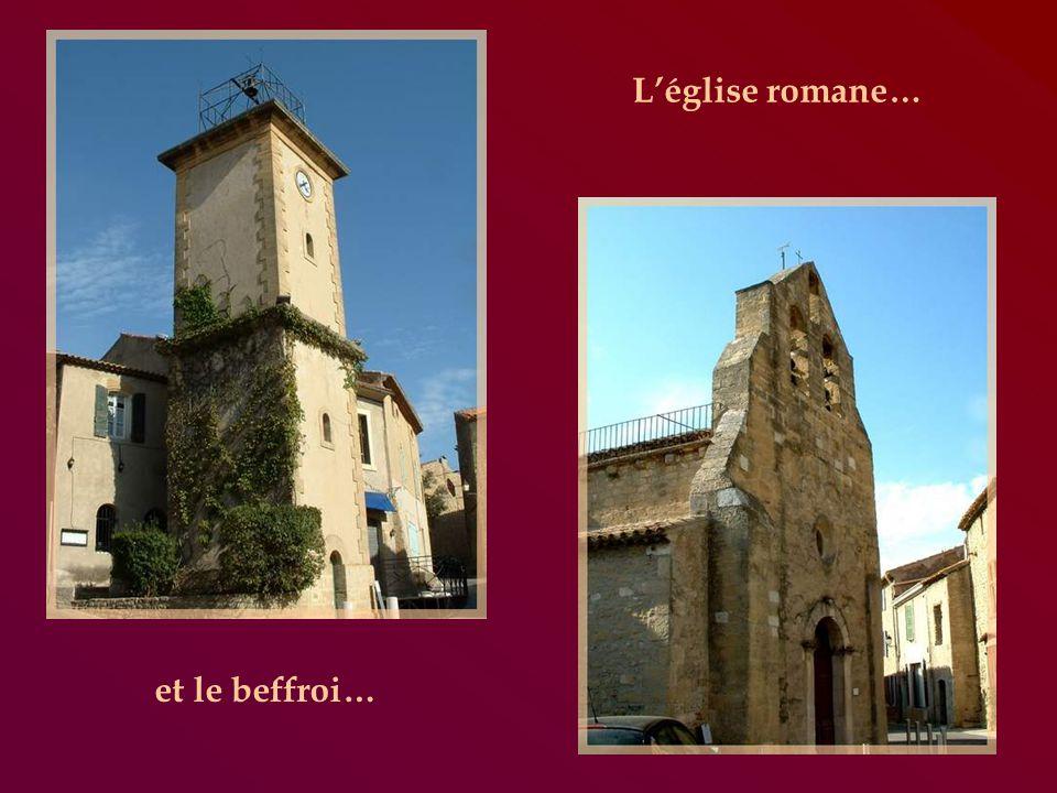 Un détour nous conduit au petit village de Cornillon-Confoux.