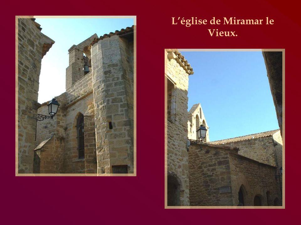 Bâtie sur un plateau rocheux, Miramas-le-Vieux, objet de la prochaine étape, a conservé son enceinte et les ruines dun château du XIIIe siècle.