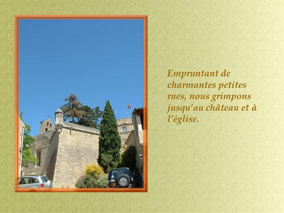 Empruntant de charmantes petites rues, nous grimpons jusquau château et à léglise.