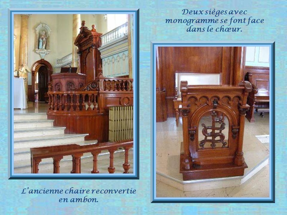 Le chœur de léglise est bien monumental pour une si petite paroisse.