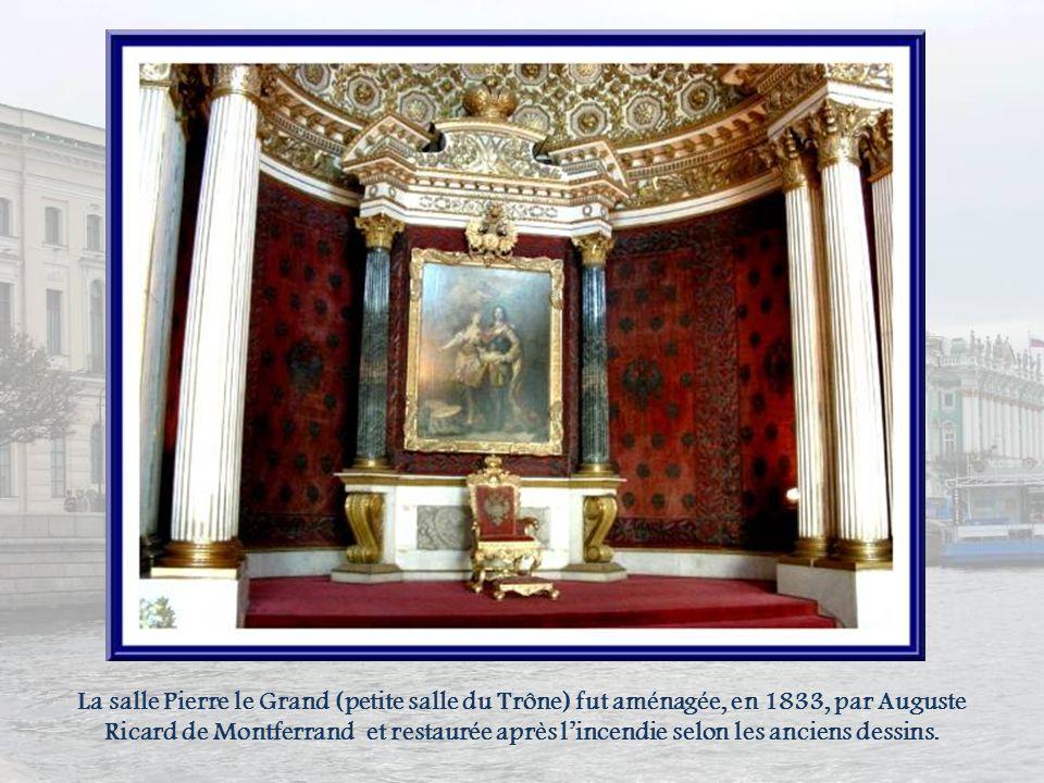 En 1839, Le plafond de lescalier fut décoré dune peinture représentant lOlympe de Gasparo Diziano, peintre italien du XVIIIe siècle, découverte dans l