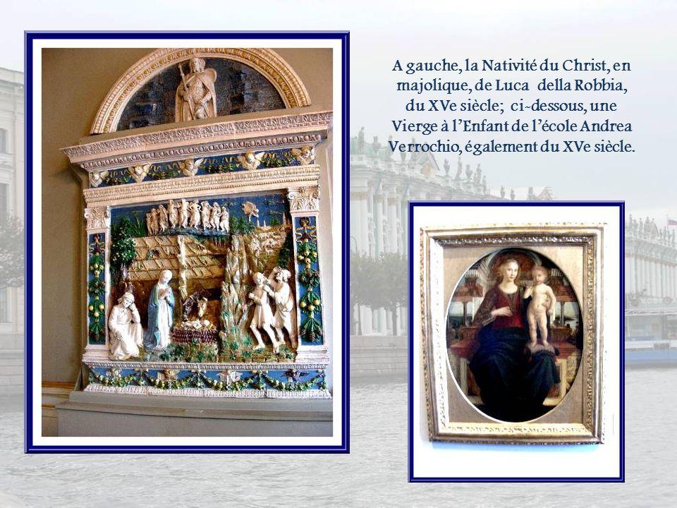 Dans la salle des icônes, des œuvres italiennes.