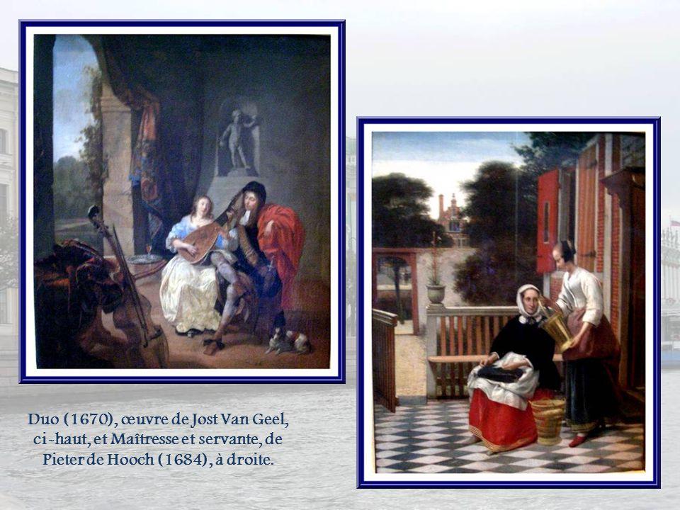 Dans la salle des peintres hollandais, deux œuvres de Rembrandt : Flora et Danaé, du XVIIe siècle.