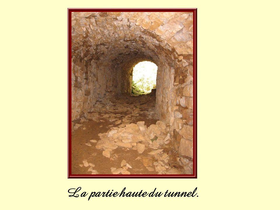 Dans le milieu du tunnel une niche ayant pu abriter un éclairage rustique.