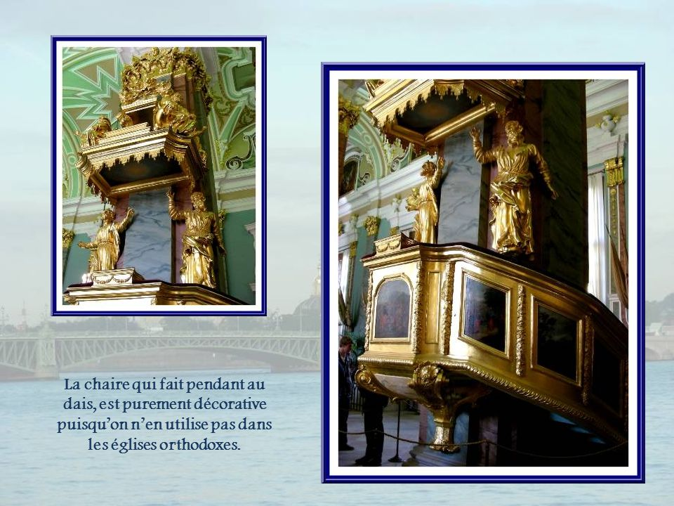 Le dais installé pour le tsar.