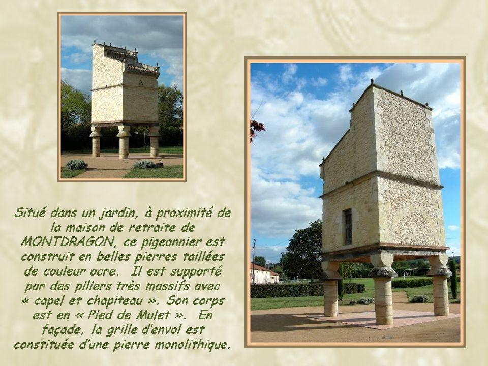 Ce pigeonnier de GRAULHET, construit sur piliers de grès, est de type « Pied de Mulet ».