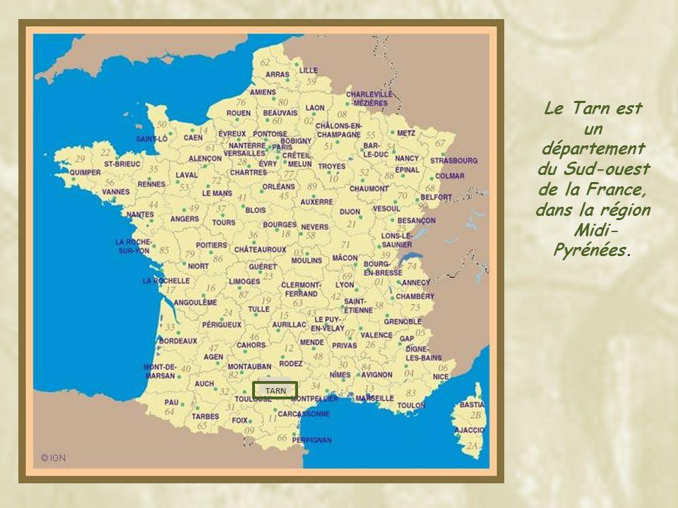 TARN Le Tarn est un département du Sud-ouest de la France, dans la région Midi- Pyrénées.