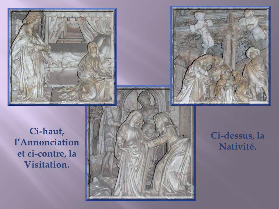 La chapelle de Marguerite dAutriche est dédiée à la Vierge. Le décor, en albâtre blanc et marbre noir, est particulièrement élégant. Le retable dû à d